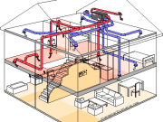 diagram: heat recovery ventilation (HRV) system